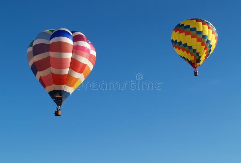 Twee hete luchtballons royalty-vrije stock foto