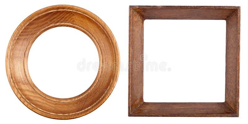 Twee houten frames royalty-vrije stock afbeeldingen