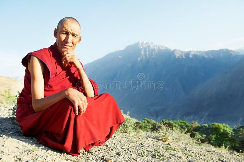 Twee Indische tibetan monnikslama royalty-vrije stock foto's