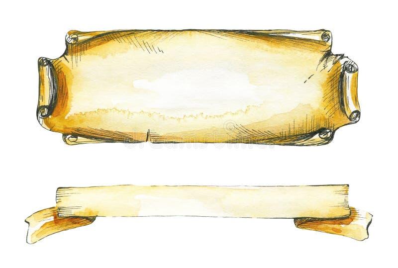 Twee inschrijvingskaders royalty-vrije illustratie