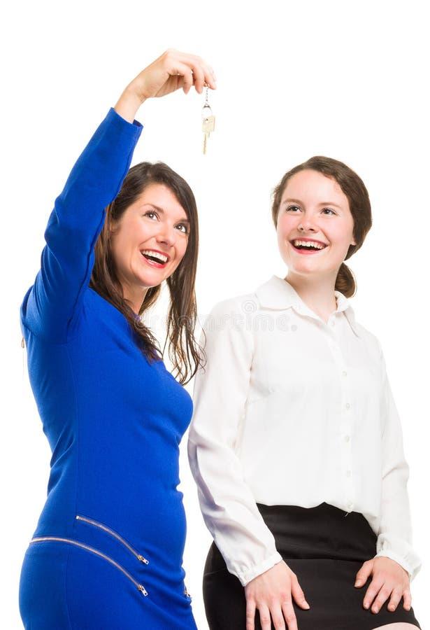 Twee jonge bedrijfsvrouwen in volledige Li stock afbeeldingen