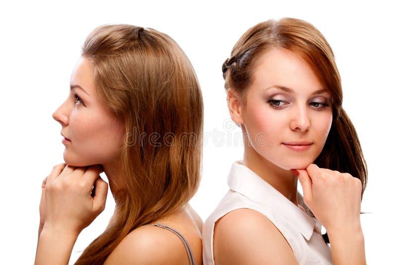 Twee jonge vrouwen royalty-vrije stock fotografie