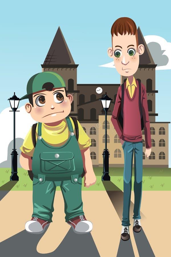 Twee jongens royalty-vrije illustratie