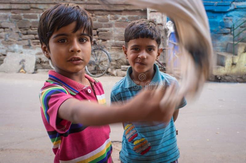Twee jongens stock foto