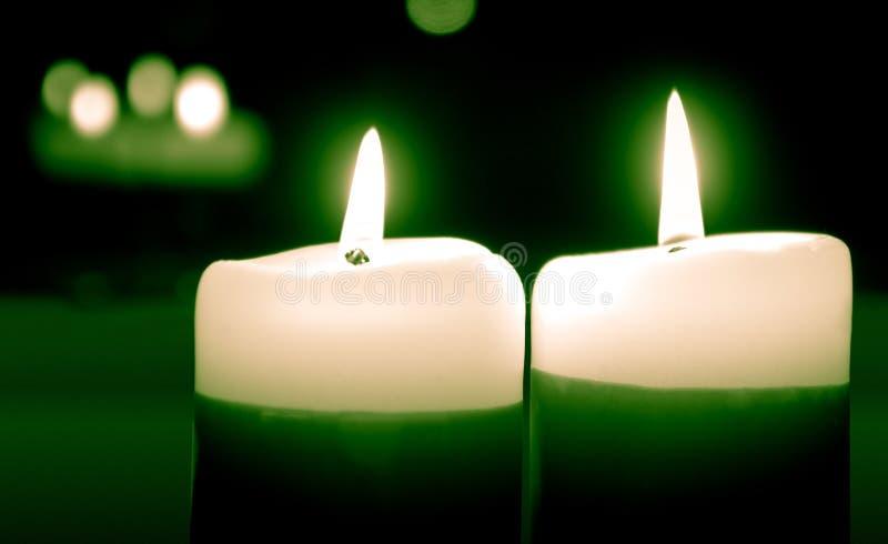 Twee kaarsen royalty-vrije stock afbeeldingen