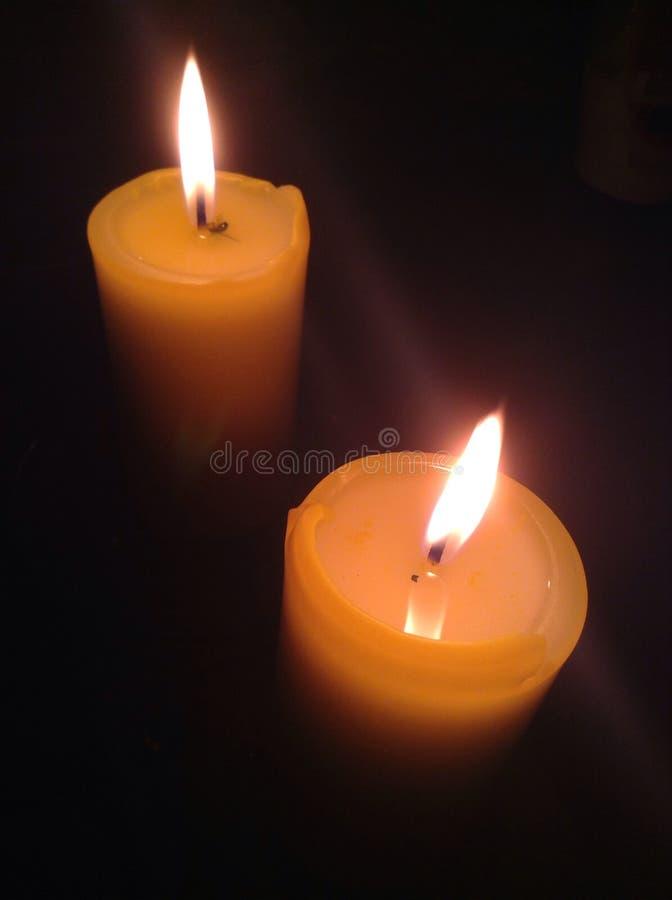 Twee kaarsen stock afbeelding