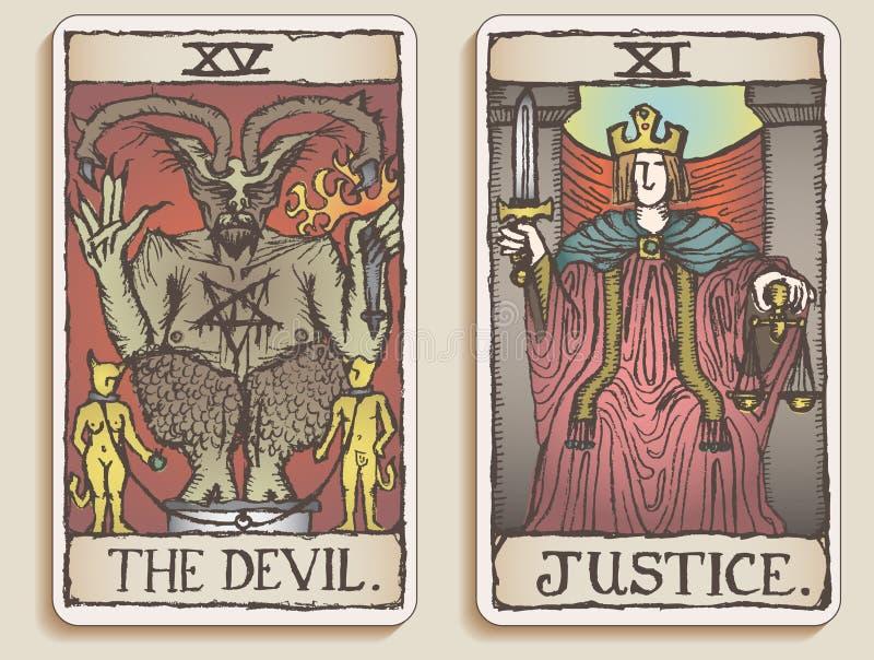 Twee Kaarten van het Tarot v.3 royalty-vrije stock foto's