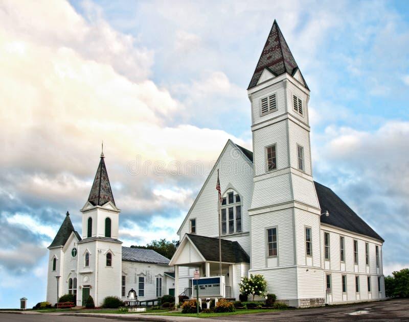 Twee kerken stock foto