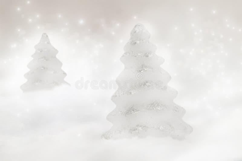Twee Kerstbomen Royalty-vrije Stock Afbeeldingen
