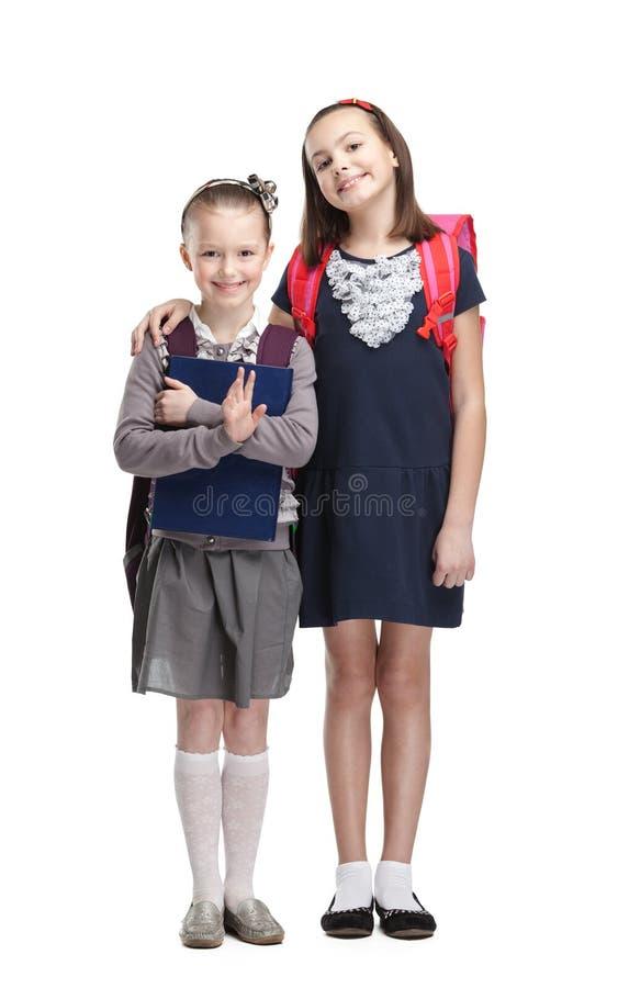 Twee klasgenoten stock afbeeldingen