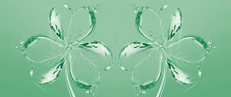 Twee Klavers van het Water royalty-vrije illustratie