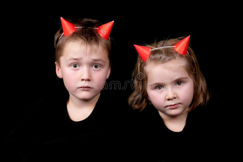 Twee kleine duivels stock fotografie