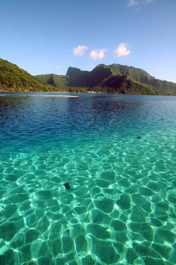Twee kleuren glasheldere lagune stock fotografie