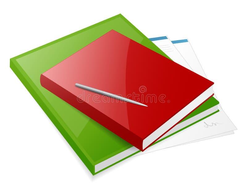 Twee kleurrijke boeken vector illustratie