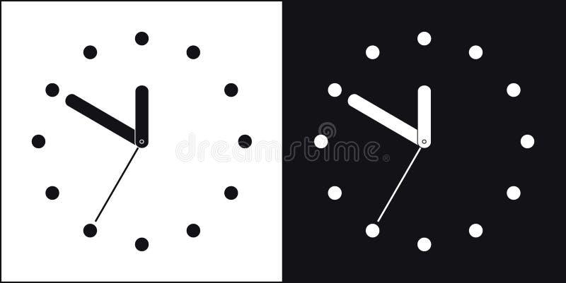 Twee Klokken stock illustratie