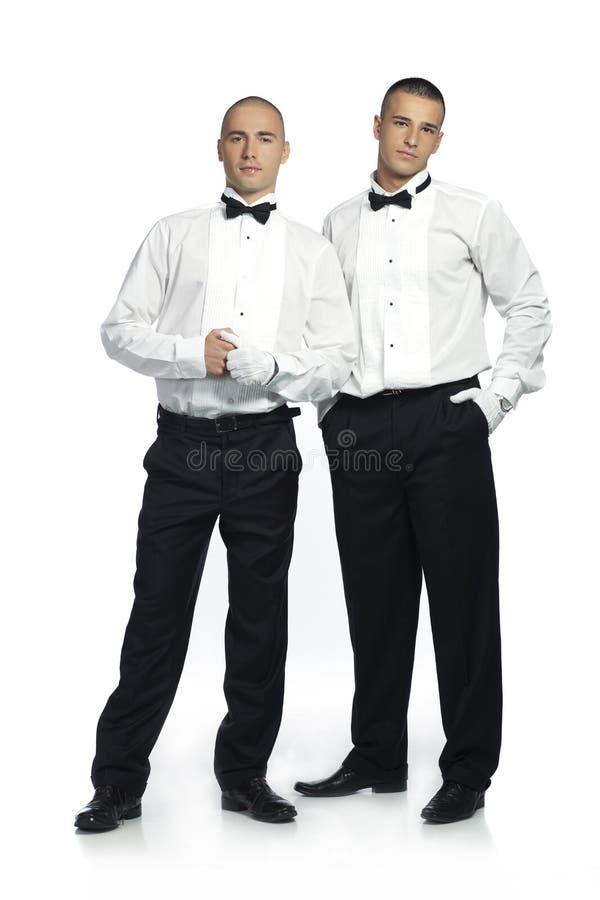 Twee knappe mensen royalty-vrije stock afbeelding