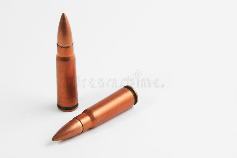 Twee kogels stock foto