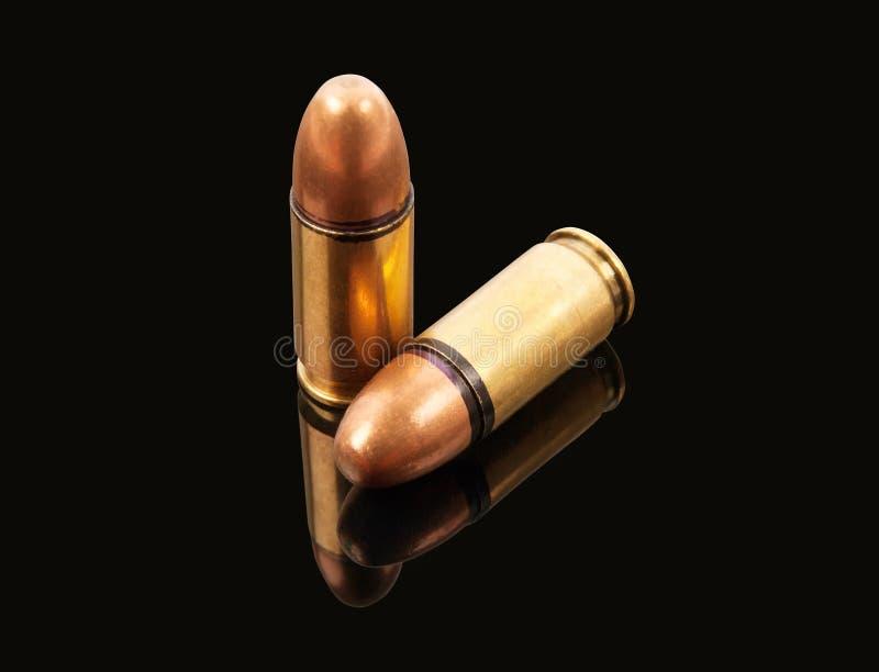 Twee kogels royalty-vrije stock fotografie