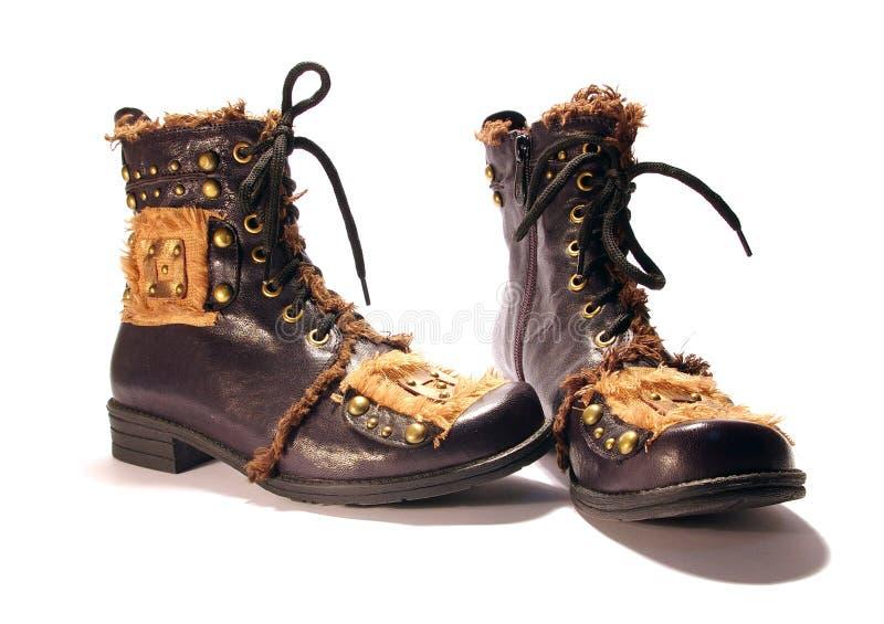 Twee laarzen stock afbeelding