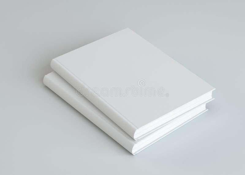 Twee lege witte boeken vector illustratie