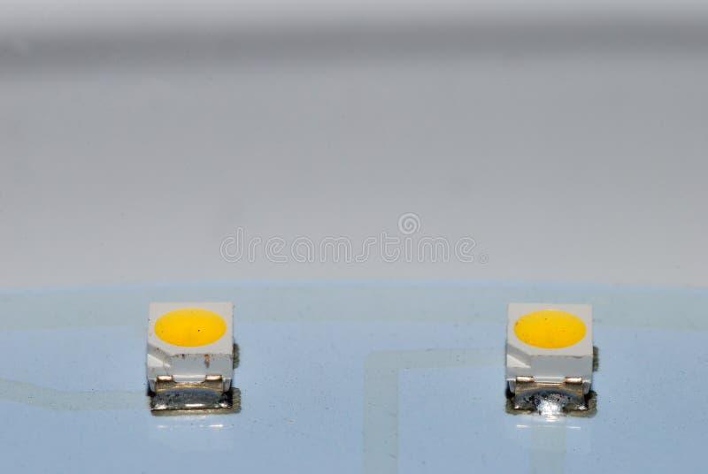 Twee LEIDENE lamp stock foto