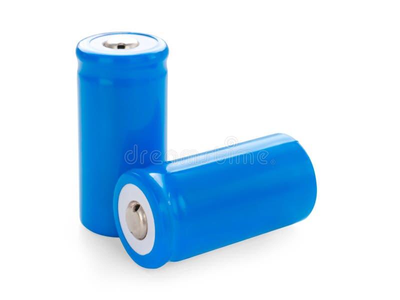 Twee lithium-ionenbatterijen stock afbeelding