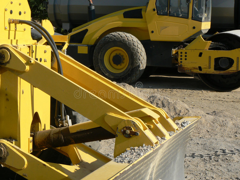 Twee machines stock afbeeldingen