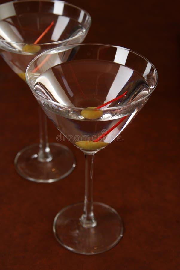 Twee martini royalty-vrije stock fotografie