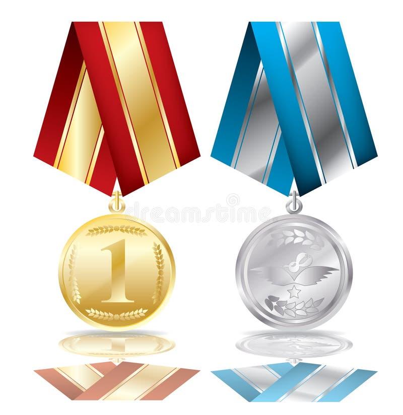 Twee medailles royalty-vrije illustratie