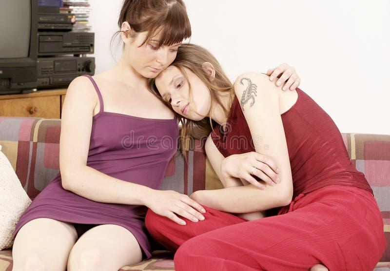 Twee meisjes stock afbeeldingen