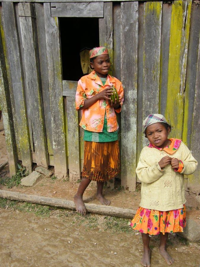 Twee meisjes Van Madagascar stock afbeelding