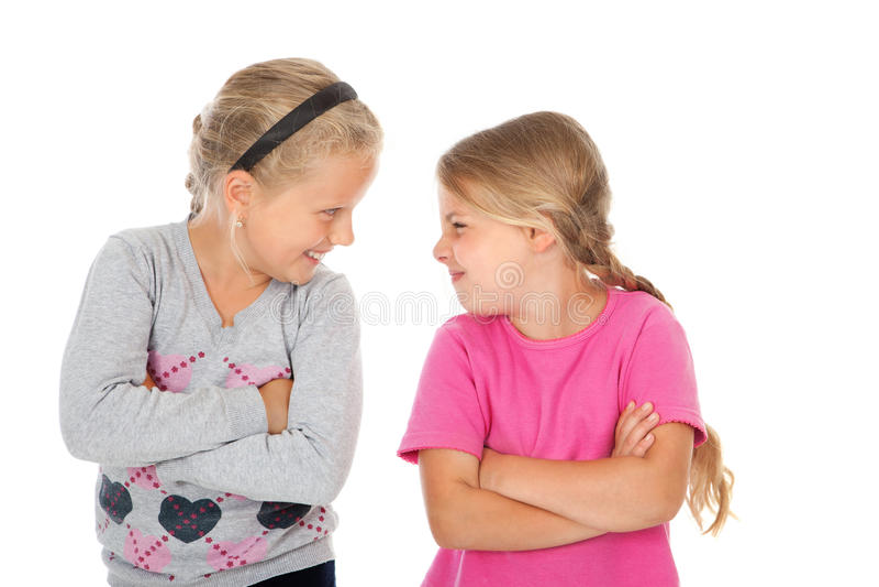 Twee meisjesvrienden royalty-vrije stock afbeeldingen