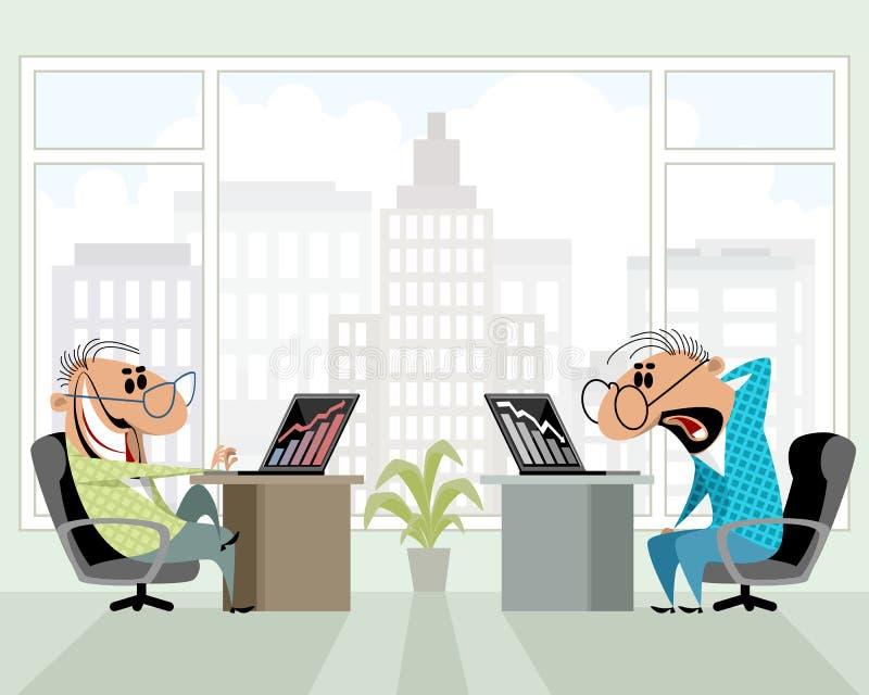 Twee mensen in het bureau vector illustratie