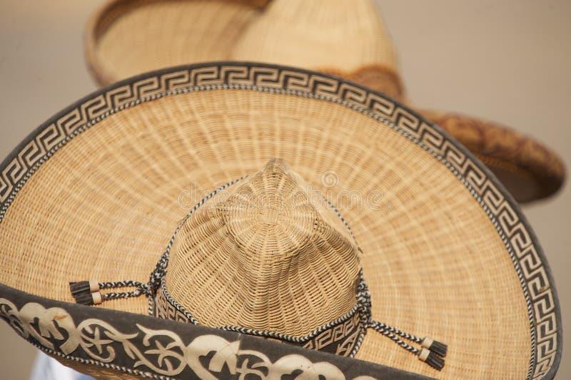 Twee Mexicaanse charrossombrero's royalty-vrije stock afbeelding
