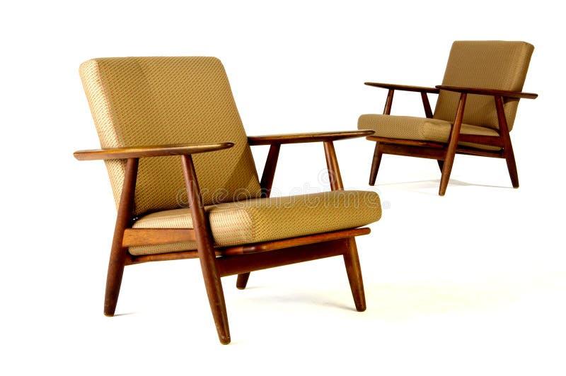 Twee moderne beklede stoelen royalty-vrije stock foto