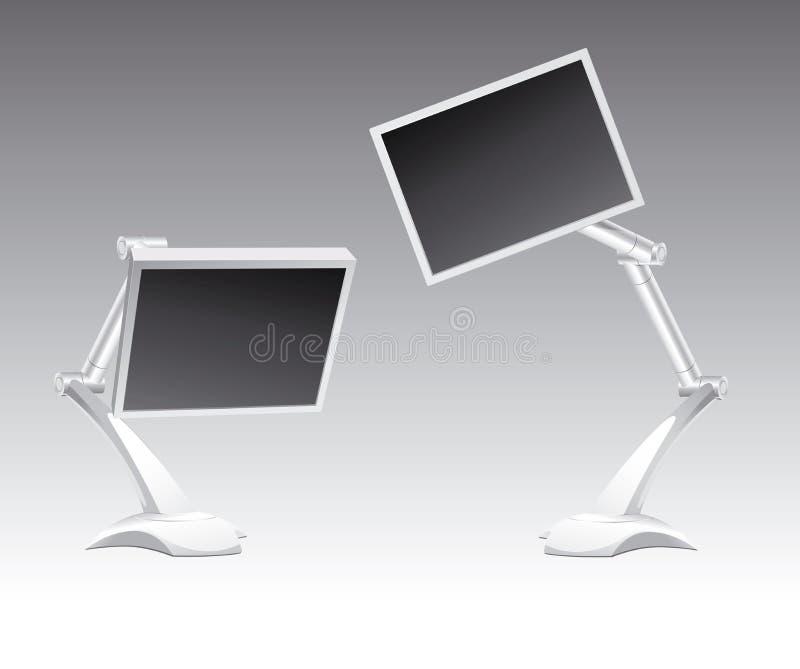 Twee monitors royalty-vrije stock foto's
