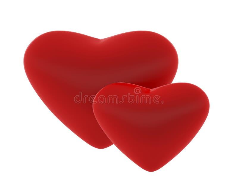 Twee mooie harten royalty-vrije stock afbeelding