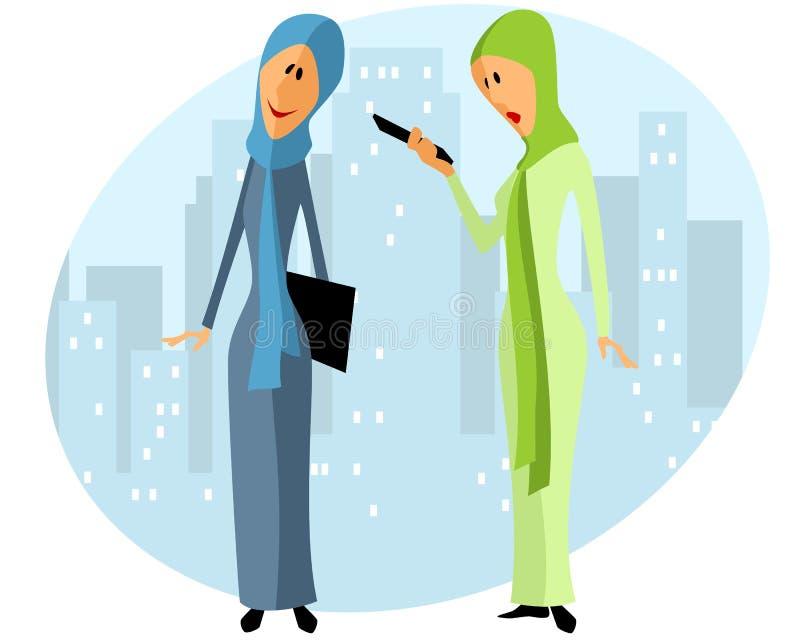 Twee Moslimonderneemsters vector illustratie