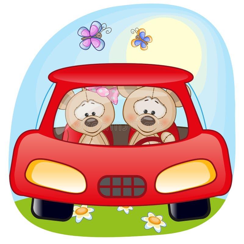 Twee Mouses in een auto royalty-vrije illustratie