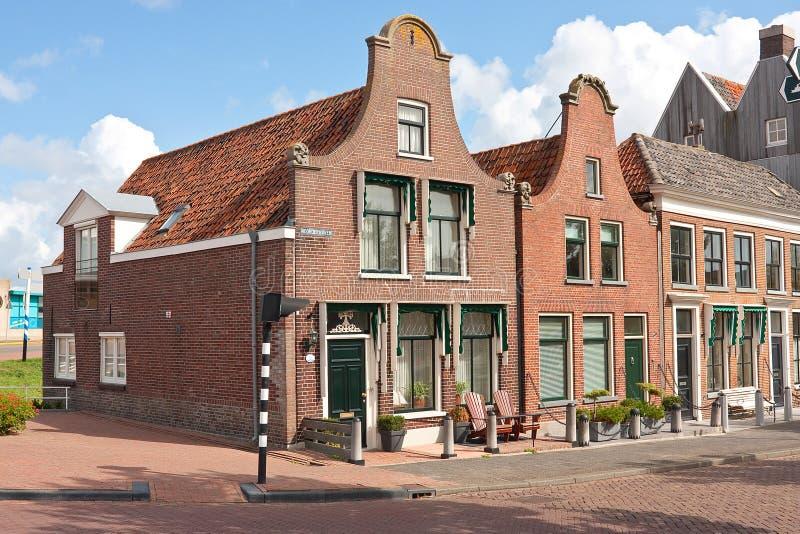 Twee Nederlandse geveltoppen stock afbeelding