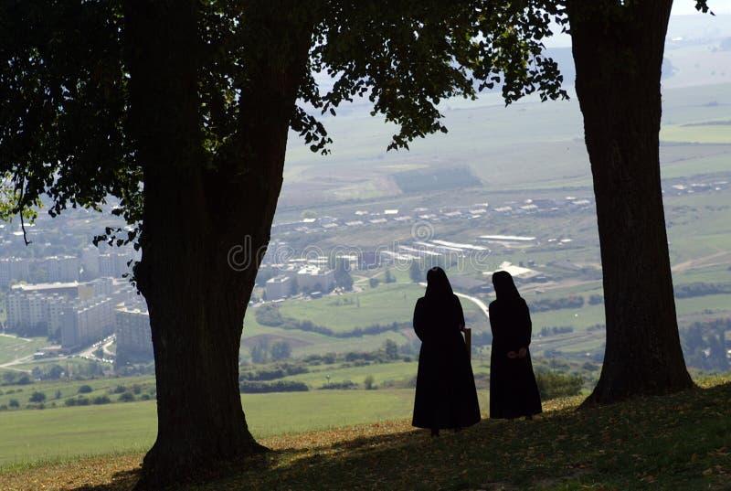 Twee nonnen stock fotografie