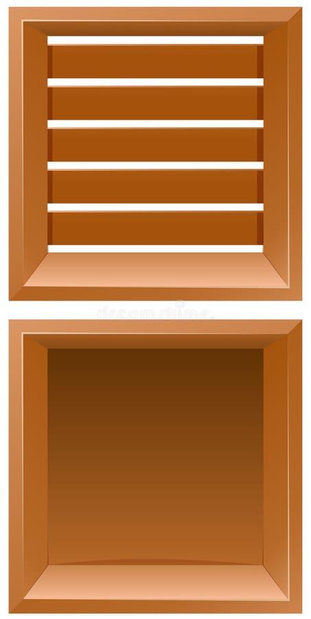 Twee ontwerpen van houten raad stock illustratie