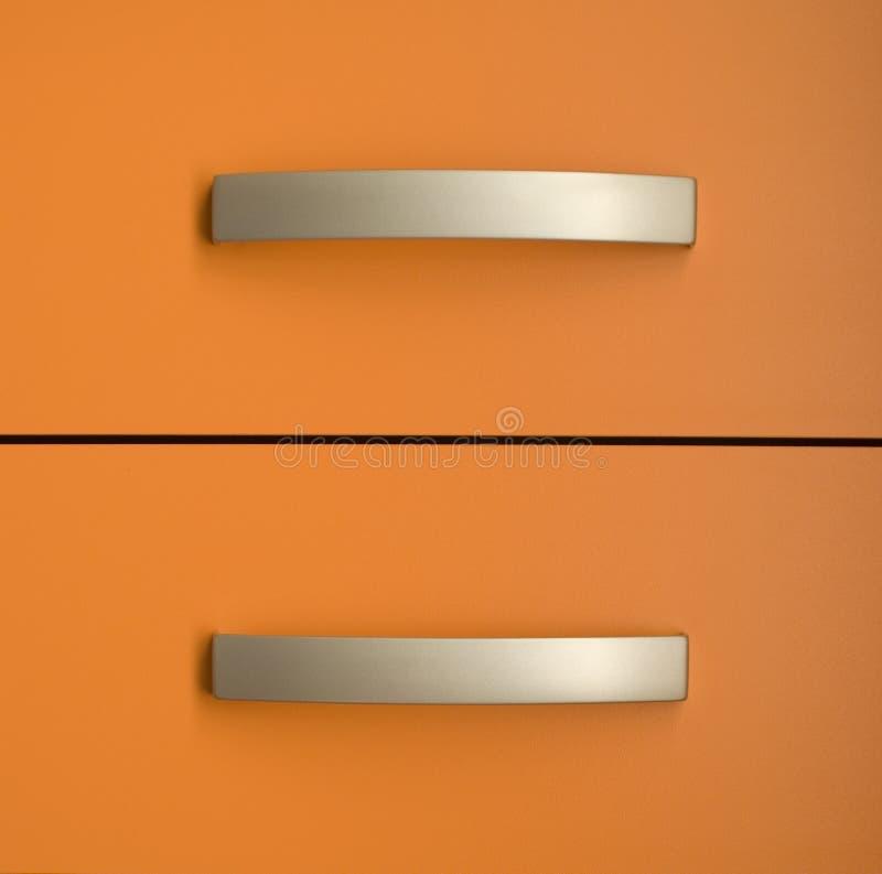 Twee oranje laden stock afbeelding
