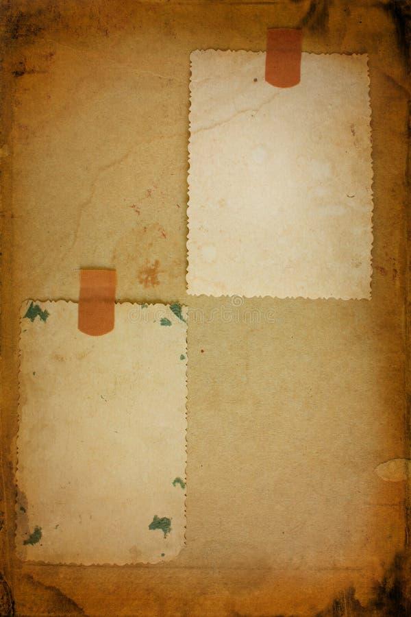 Twee oud fotoframe stock foto