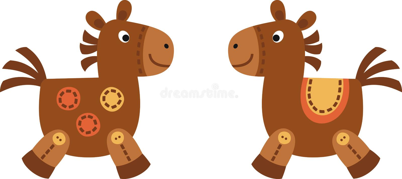 Twee paarden royalty-vrije illustratie