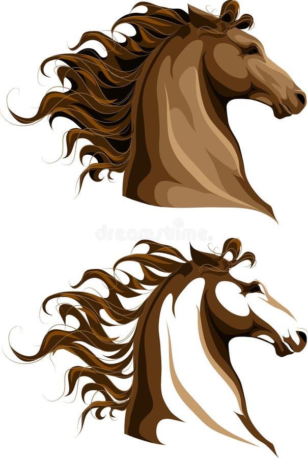 Twee paardenhoofden royalty-vrije illustratie