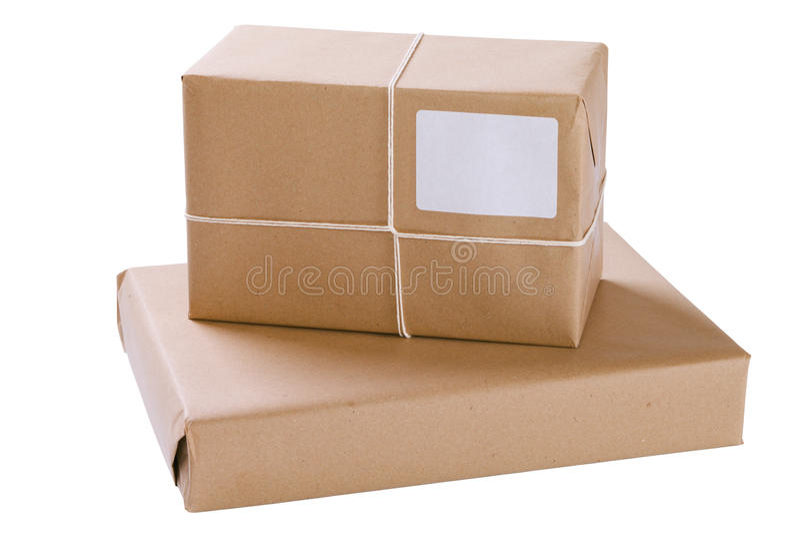 Twee Pakketten van het Pakpapier royalty-vrije stock foto