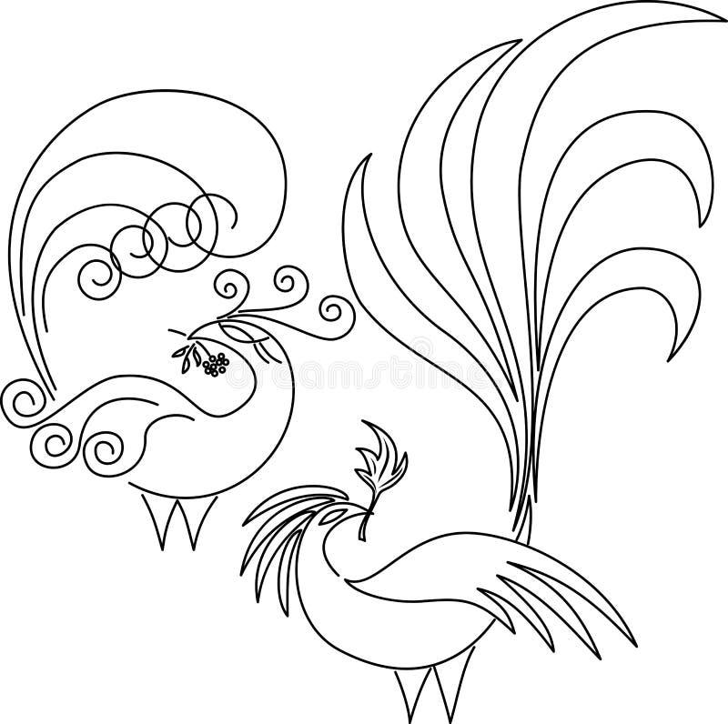 Twee paradijsvogels. stock illustratie