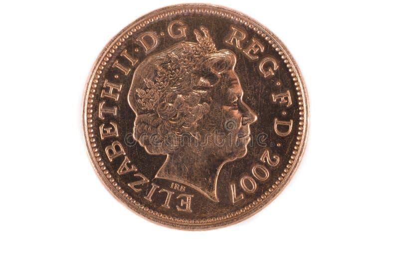 Twee pence hoofden stock foto