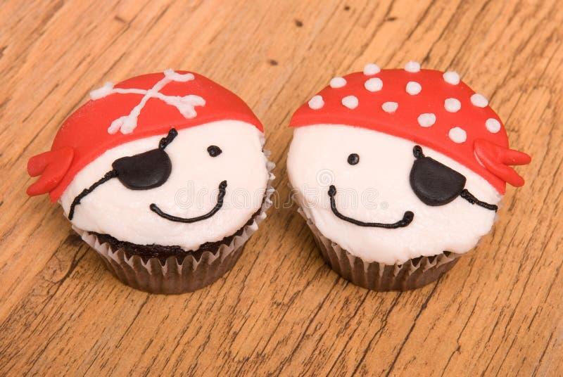 Twee Piraat Cupcakes royalty-vrije stock fotografie